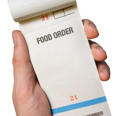 Order Pads Receipts Cloakroom